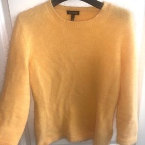 Super soft angora sweater in yellow